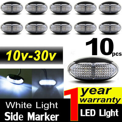 10X 10V-30V White Clearance Lights Side Marker Led Trailer Truck Lorry Lamp Au