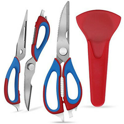 Multi Purpose Kitchen Cooking Cutting Sharp Scissors Shears Stainless Steel US