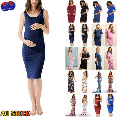 Pregnant Women Summer Bodycon Maternity Dress Casual Party Photography Costume