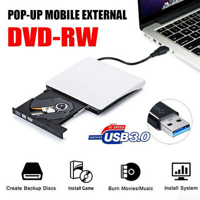 External DVD Drive USB DVD CD RW Burner Laptop Potable Optical Player Writer