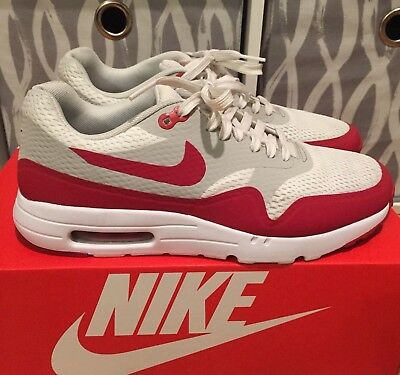 free shipping 9ffc3 ac82a 2015 Nike Air Max 1 Ultra Essential Varsity Red Mens Size 8 OG Used Boost