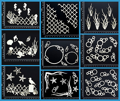 White Chipboard Embellishments - Beach & Nautical - Collection Two