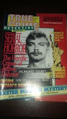 true crime detective monthly magazine october 1991 good condition for age