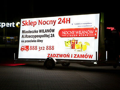 Backlight Advertising Trailer (Lit From Inside) 504X238Cm