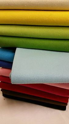 Baby blue Cotton canvas Linen Fabric Curtain Furnishing Material Home Textile