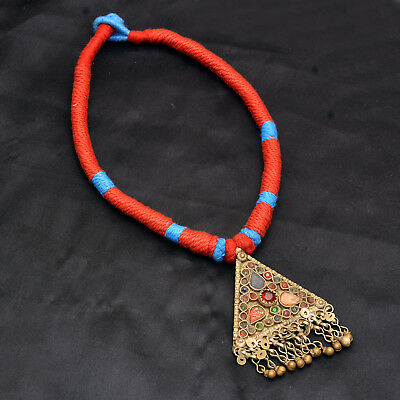 Real Afghan Vintage Jewelry Necklace Ethnic Tribal Authentic Antique Pc Diwali