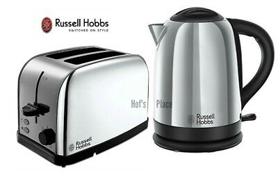 Kettle and Toaster Set Russell Hobbs Dorchester Kettle & 2 Slot Toaster - Silver
