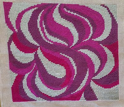 Modern Tapestry: Unique Handmade 'Purple Haze' Sampler