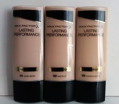 Max Factor X Lasting Performance Touch Proof Liquid Foundation 3 Shades Availabl