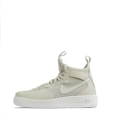 brand new f0fae 9c385 Nike Air Force 1 Ultraforce Mid Men s Ankle Style Trainers Shoes in Light  Bone