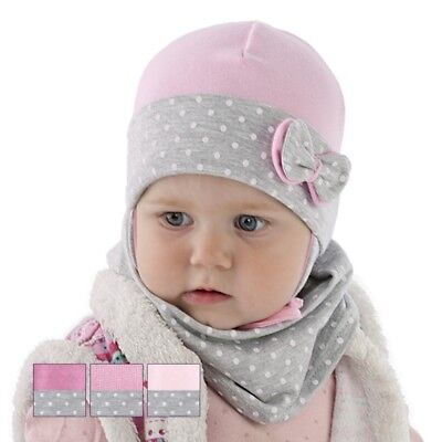 Brand New Cotton Soft Tied Hat&scarf Set For Autumn Spring For Girl/baby Warm