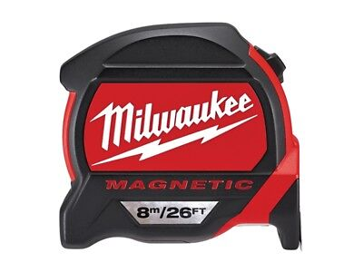 Milwaukee MIL48227225 Premium Magnetic Tape Measure 8m/26ft (Width 27mm)