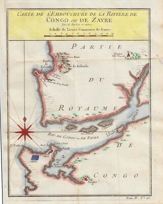 1754 Bellin Map - Mouth of Congo River