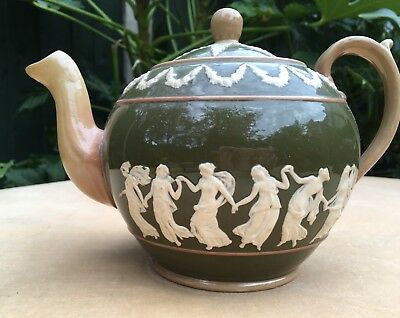Antique Copeland Spode Tea Pot - Grecian Dancers