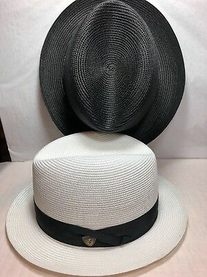 1957478bad4 Dobbs Fifth Ave New York Florentine Milan Parker Mens Straw Hat Made In Usa