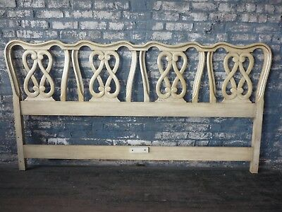 Vintage French Provincial Chair Back King Headboard Hollywood Regency
