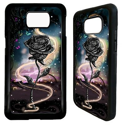 Rose flower fairy tale graphic case cover for Samsung Galaxy S6 S7 S8 S9 plus