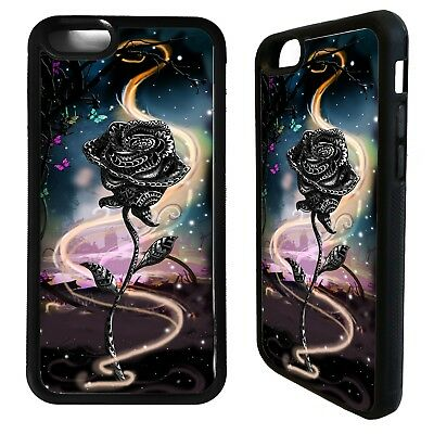 Rose flower roses fairy tale graphic cover case for iphone 5 5s 6 6S 7 8 plus X