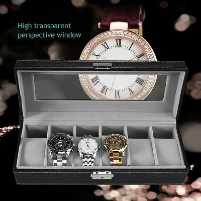 New 3/6 Grids Leather Watch Display Case Jewelry Collection Storage Holder Box