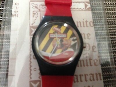 Coca Cola Coke vintage Max Headroom Wrist Watch works good small size w. case