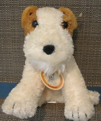 Golden Bear Fox Terrier 2002 Collection Puppy Dog Plush Brown Ivory To From Tag
