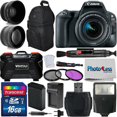 Canon EOS Rebel SL2 200D 24MP DSLR Camera w/ EF-S 18-55mm IS STM Lens Kit + More