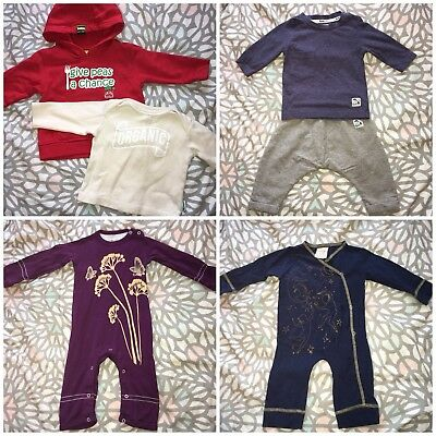 3-6 Months ORGANIC Baby Clothes Bundle - Autumn Winter Unisex Boys Girls