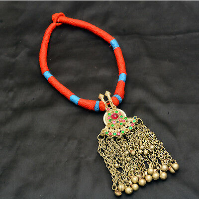 Real Afghani Necklace Vintage Jewelry Ethnic Tribal Authentic Antique Pc Diwali