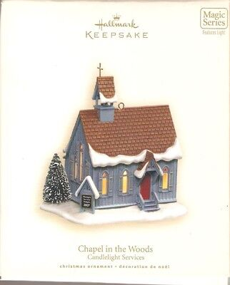 2007  Hallmark Ornament  Countryside Church   #10  Candelelight Services