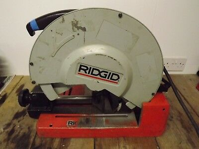 Ridgid 590L Metal Drycut Chop Saw steel pipe cutter box section 14 inch 355mm