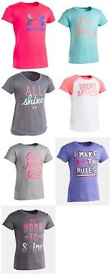 New Under Armour Toddler Girls Raglan Print Shirt Choose Color and Size MSRP $20