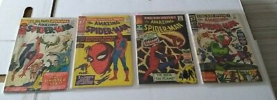 RARE 1964 SILVER AGE AMAZING SPIDER-MAN ANNUAL #1 #2 #3 #4 keys annuals WOW