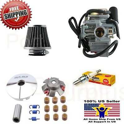 GY6 125cc 150cc 26mm Carb Performance Variator NGK Filter Scooter Power Kit