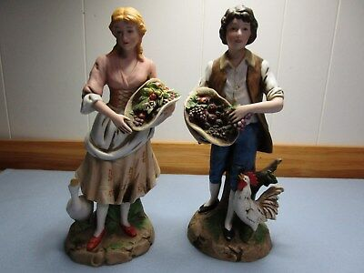 Vintage Homco Young Man And Woman Set #1401 Great Condition