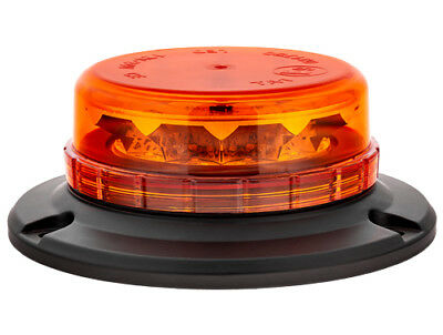Lightbar UK 3 Bolt Mount LPB R65 Rotating Flashing Amber LED Strobe Beacon