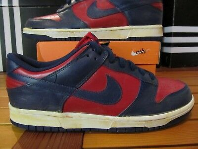 check out f3a9c b7782 DS Nike Dunk Low VNTG VINTAGE Red Navy Blue 11 446242 601 supreme off white  aj1
