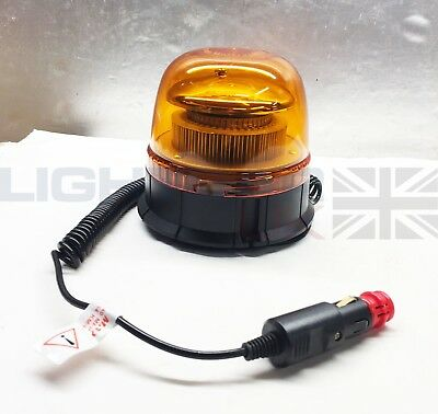 Lightbar UK Magnetic Mount LTB R65 Rotating Flashing Amber LED Strobe Beacon