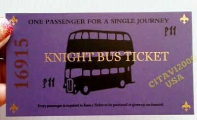 New! Harry Potter Knight Bus Ticket Souvenir Poster. Usa Seller.