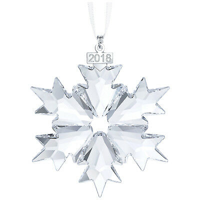 Swarovski Crystal Annual Snowflake Christmas Clear Ornament 2018 (Large) 5301575