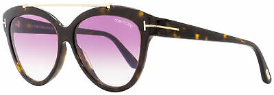 88e5f69f79 Tom Ford Butterfly Sunglasses TF518 Livia 52Z Dark Havana Gold 58mm FT0518