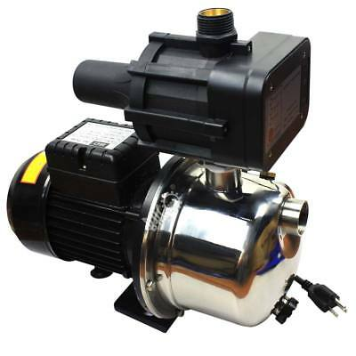 110V 1HP Stainless Steel Booster Pump/Jet Pump w/ Pressure Switch 15GPM 66psi