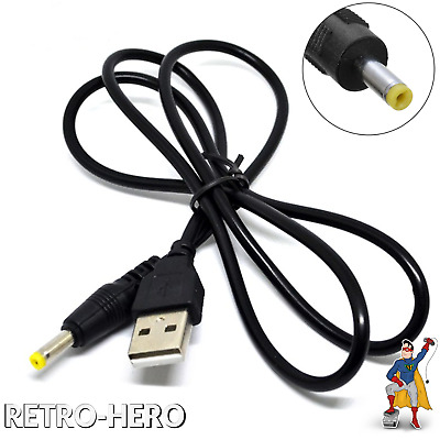 PSP 1000 / 2000 / 3000 Fat USB Charger Data Power Cable Charging Lead NEW