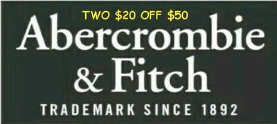 TWO $20 off $50 Abercrombie & Fitch Coupon Code Works SALE CLEARANCE Exp 11/13
