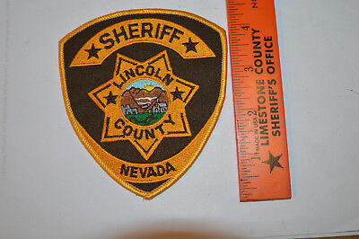 Lincoln County, Nevada Sheriff's Department Shoulder Patch   #07