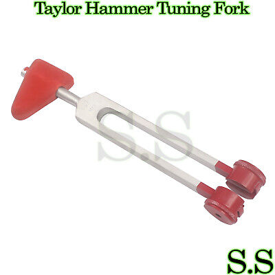 NEW PREMIUM GRADE 2 in 1 TAYLOR HAMMER C128 TUNING FORK Combo SET A+ QUALITY