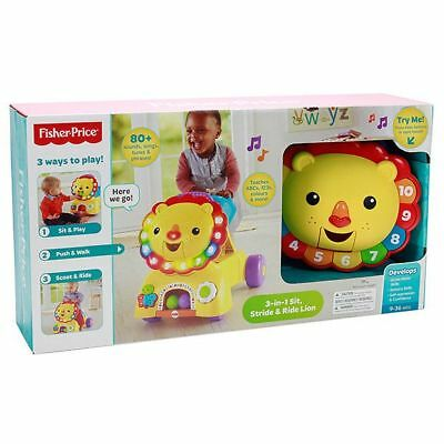 NEW Fisher-Price 3 in 1 Sit, Stride and Ride Lion Helps develop:
