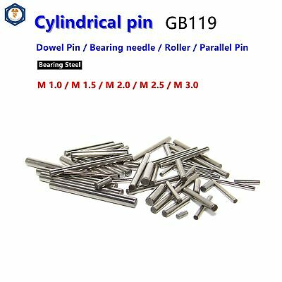M1 M1.5 M2 M2.5 M3 Dowel Pins Cylindrical Pins Position Pins Bearing steel