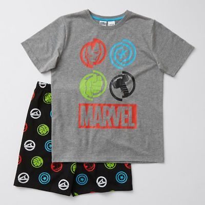 NEW Marvel Avengers Symbol Print Pyjama Set Kids