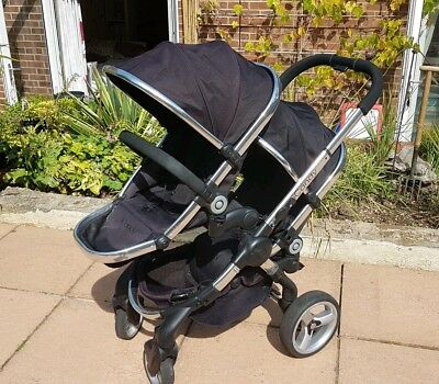 30651aad15e1 iCandy Peach Blossom...Black jack Double Seat Stroller buggy pushchair twin