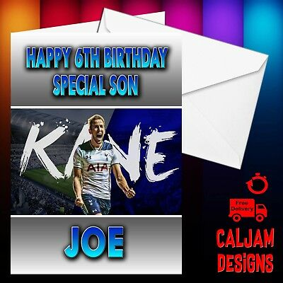 Harry Kane Birthday card Tottenham Any name or relation - personalised FREE P+P
